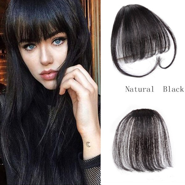Clip On Clip In Front Hair Bangs High Quality Hair Human Hair Extension Piece Long Hair Styles With Bangs And Layers Long Layered Hairstyles With