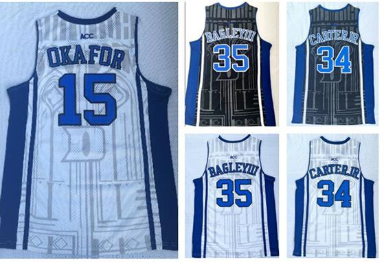Discount Cheap Duke College 15 Gerard Okafu Marvin Bagley III 35 Wendell Carter 34 Trainers 14 Ingram 0 Tatum 1 Irving Basketball JerseyS