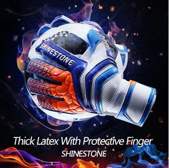 best selling Shinestone Professional Thick Latex Finger Protection Soccer Goalkeeper Glvoes Adults Football Goalie Gloves