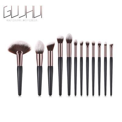 12 Teile / satz Make-Up Pinsel Werkzeug Set Kosmetische Pulver Lidschatten Foundation Blush Blending Schönheit Make-Up Pinsel