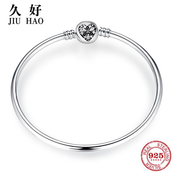 Горячий стерлинговый серебристый браслет из стерлингового серебра 925 пробы для ювелирных украшений для модных женских модных 2018