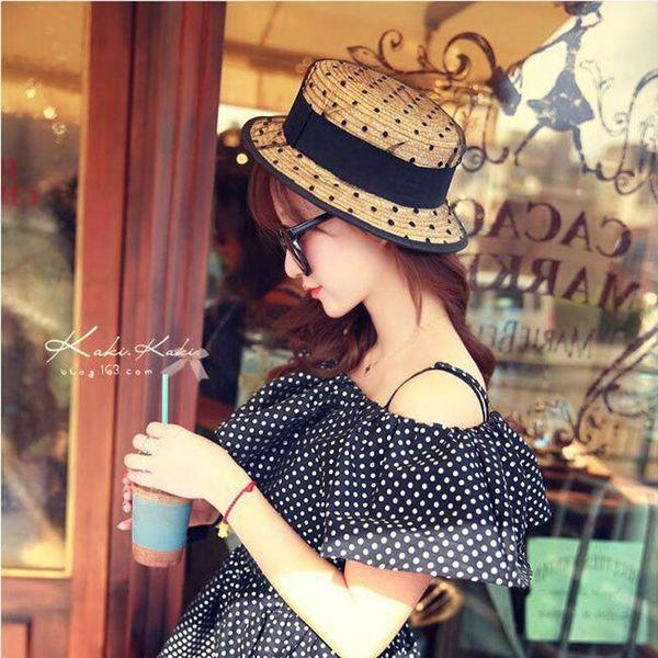 2017new été 100% bonne qualité Flat Sun Hat femmes arc chapeau de paille pour femmes chapeau de plage chapeau femme boater cadeau livraison gratuite