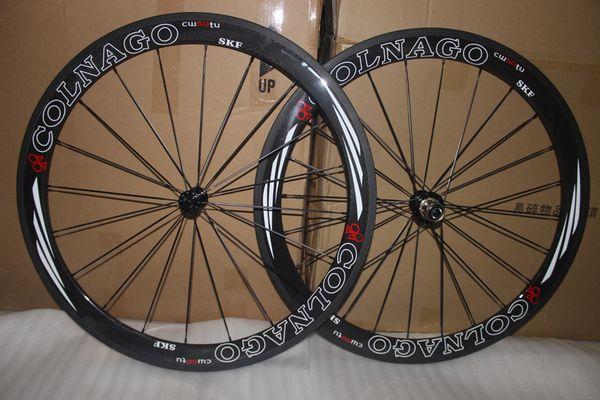 سوبر ضوء! COLNAGO الطريق عجلات الكربون 50MM الفاصلة الفاصلة العجلات الكربون 50MM 700C الطريق الدراجة عجلات من ألياف الكربون الطريق دراجة كاملة