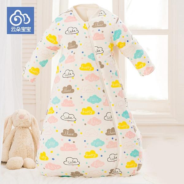 CHOI-WAN baskı hali bebek uyku tulumu uyku tulumu kollu çıkarılabilir