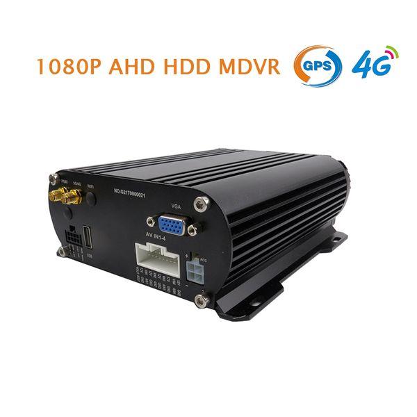 Ücretsiz Nakliye 4 Kanal GPS 4G 2.0MP 1080 P AHD 2 TB HDD Sabit Disk 256 GB SD Araba DVR MDVR Video Kaydedici PC / Telefon Gerçek Zamanlı Monitör