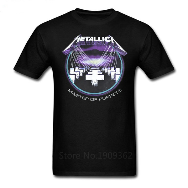 Round Collar Tee Shirts Crew Neck Cotton Short Sleeve Master Of Puppets Mens Shirts