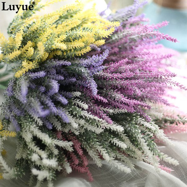 6pcs /Lot Romantic Provence Artificial Lavender Flower Wedding Flowers New Year Decoration Home Party Christmas Decorative