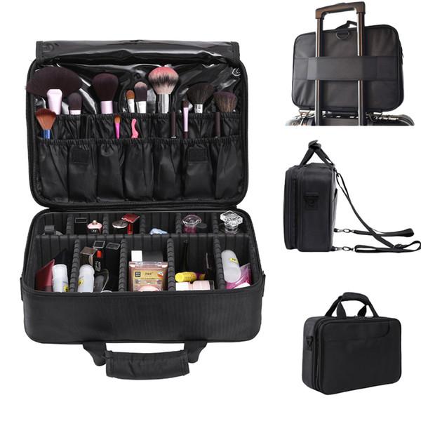 High-capacity professional Beauty Cosmetics Organizer Storage Box Beautician Travel Essential Portable Makeup Watercolor Box