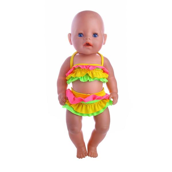 Bebek giyim aksesuarları Yaz mayo suit Fit 18 inç Amerikan Kız Doll43cm Giyin bebek doğan zapf