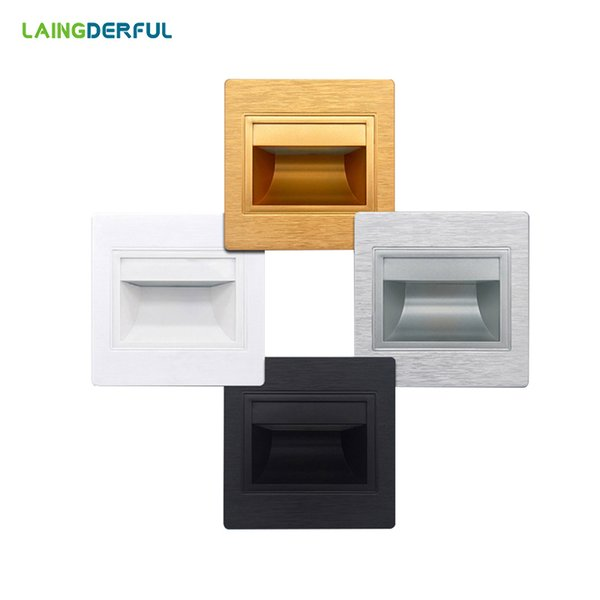 indoor step lights dimmable led 9595mm moderni luminaire 25w recessed led stair lights square wall lamps ac 85265v cool warm white step stairway indoor lamp coupons promo codes deals 2018 get cheap