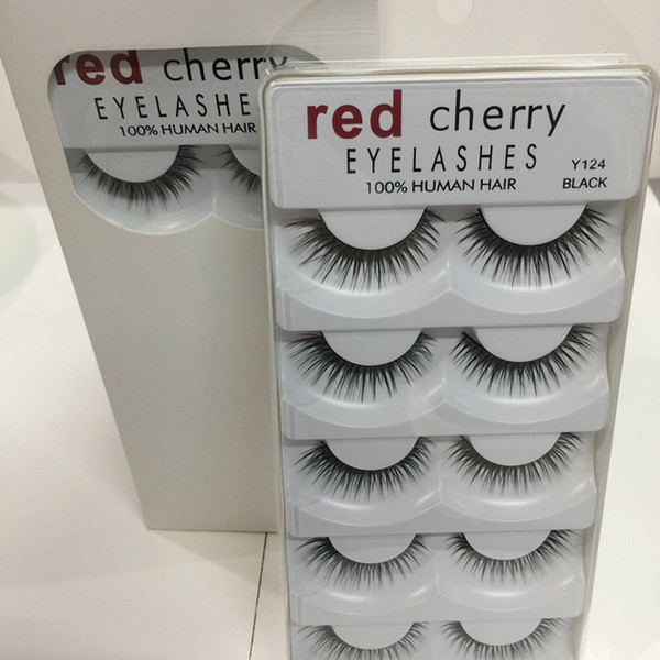 Red Cherry 3D False Eyelashes 5 Pairs/pack 8 Styles Natural Long Professional Makeup Big Eyes High Quality 3001224