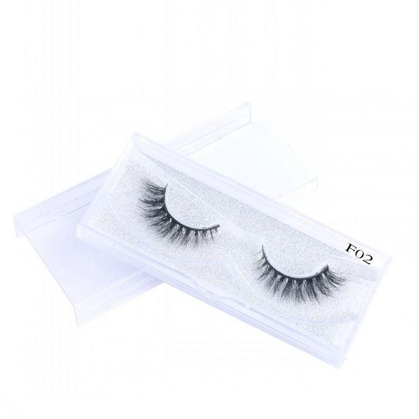 2018 New Style 3D False Eyelashes Comfortable Soft Natural Long Thick 100% Handmade Mink Hair Eyelashes