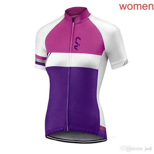 2018 nuovo Pro liv squadra Donne Ciclismo Jersey Abbigliamento ciclismo Traspirante Mountain Bike Abbigliamento Quick Dry Bicicletta Sportswear Ciclismo L1301