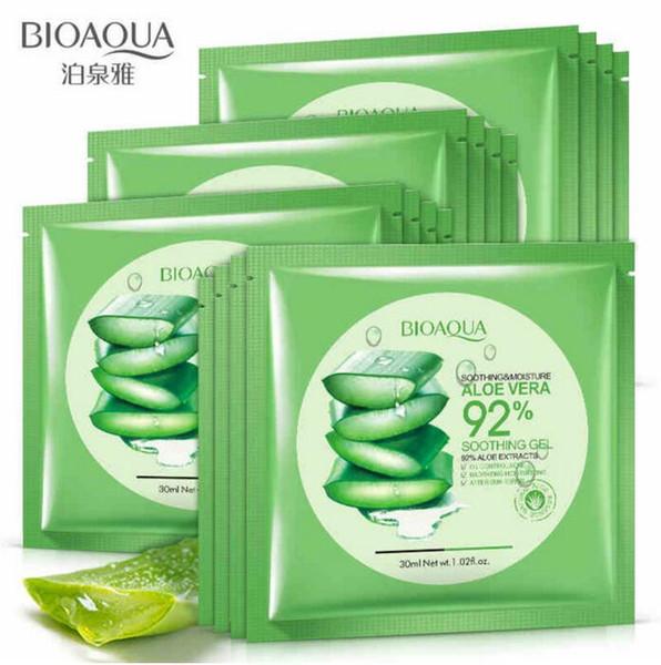 Bioaqua natural aloe vera gel face ma k kin care moi turizing oil control wrapped ma k hrink pore facial ma k