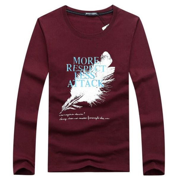 2018 Hot Men fashion t shirt tees Slim Tops New stretch t shirt long sleeve size M-5XL cotton Tees A5