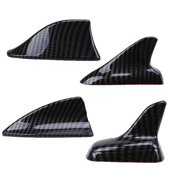 best selling Auto Car Universal Shark Fin Roof Decorative Decorate Antenna Aerials Imitation Carbon Fiber Car Stickers Exterior Parts