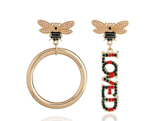 best selling New Designer Stud Earrings Letters Ear Stud Earring Jewelry Accessories for Women Wedding Gift Free Shipping 5464