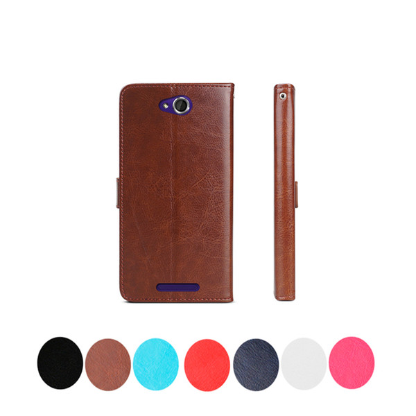 in stock For Sony Xperia C Z Z1 Z2 Z3 Z4 Z5 Z5+ C3 Crazy Horse Retro flip Wallet Leather With Card Slots Stand Holder Case