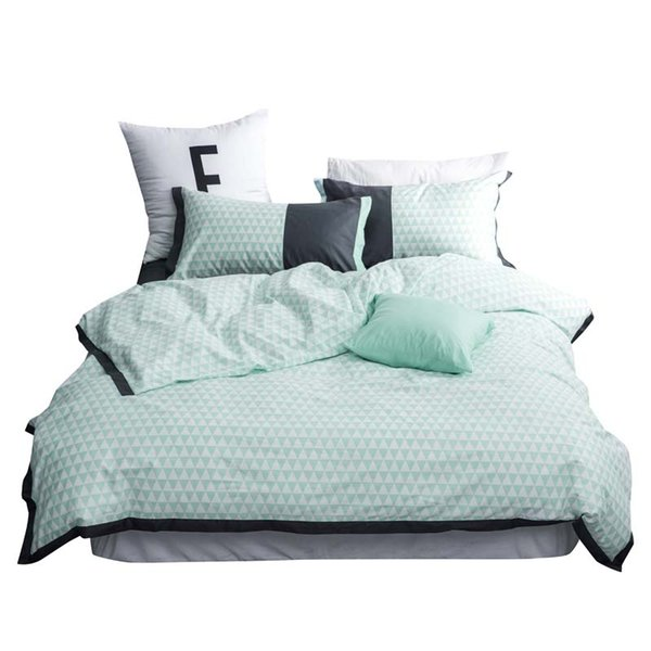 Hotel white 100% cotton Three-dimensional Bedding set King Queen Twin size 4Pcs White Wedding Bed set Duvet cover Bedsheet