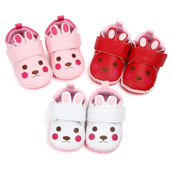 Cute Baby Girls Boys Shoes Cartoon moccasins Leather Crib shoes Prewalker Infant Toddler Soft Rubber sole Anti-slip shoes for 0-18M
