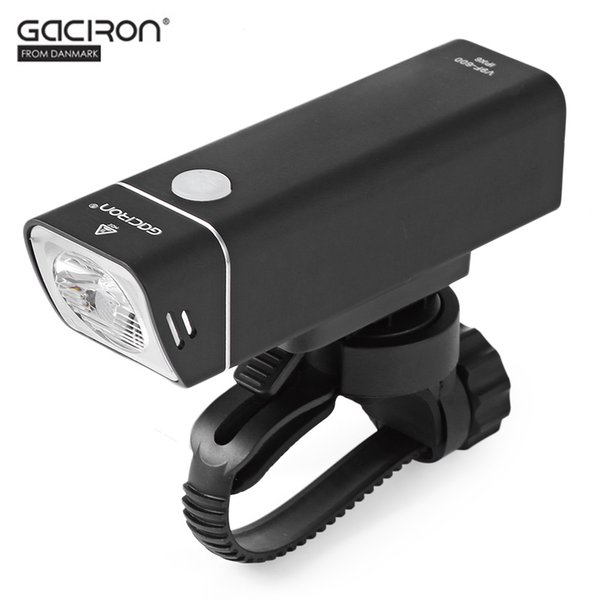 GACIRON 600 Lumens Bicycle Headlight with Wire Control Waterproof MTB Road Bike Flashlight USB Rechargeable Cycling Front Light