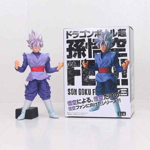 YENI 20 CM Dragon Ball Süper Saiyan siyah Oğlu Goku PVC Action Figure Oyuncak Goku Mor Dragon Ball Z şekil FES