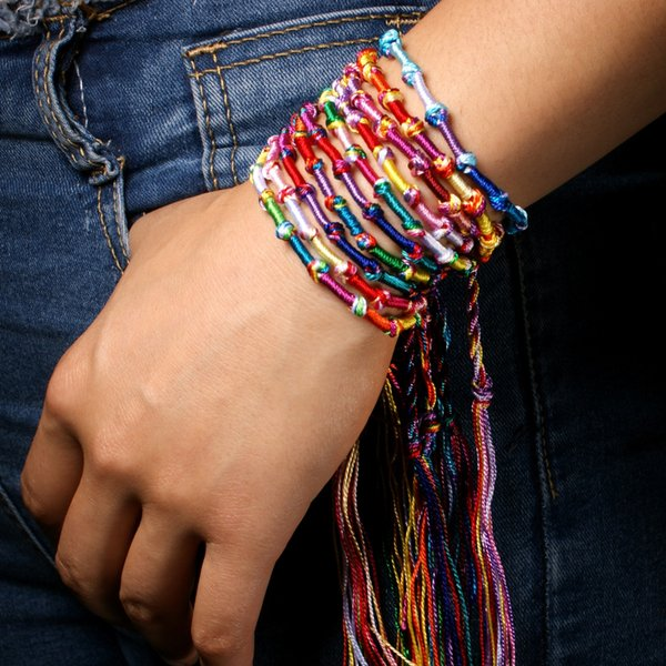 Friendship Bracelet Nepalese National Wind Bohemian Multicolor Bracelet Lucky Handmade Bangle Charms Hand Rope Jewelry For Women Gift H675F