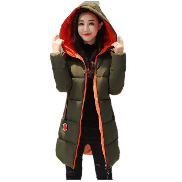 2017 Winter jacket women Thick Long Women Parkas Hooded Female Outwear Coat Down Cotton Padded Snow Wear K037 S18101505