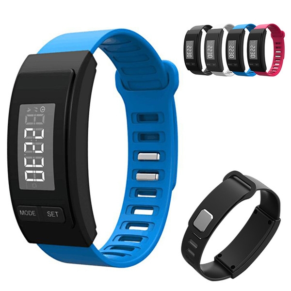 Smart Sports Running Pedometer Digital Time Display Calorie Distance Record Fitness watch Health Monitoring Electronic Band