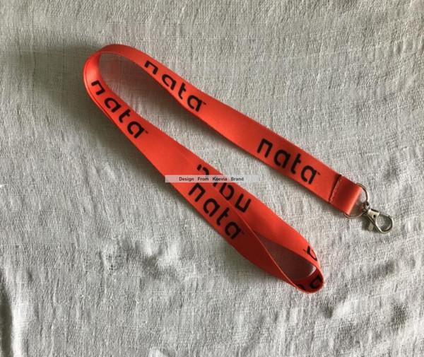 fb173e688 Personalizado Vermelho Colhedor Logotipo Imprimir Ambos Os Lados Sublimação  Presente Lanyards Strap Para Empresa de Negócios ID titular 200 pçs   lote