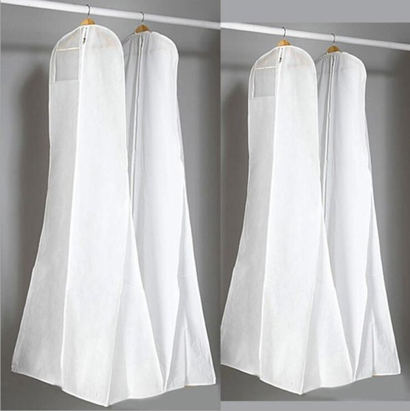 Surper Big 180 cm vestido de casamento sacos de vestido de alta qualidade branco saco de poeira longa capa de vestuário de armazenamento de viagem cobre