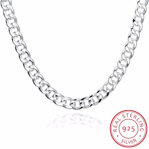 LEKANI Men's Fine Jewelry 925 Sterling Silver Chains Necklace High Quality Male 925 Sterling-Silver-Jewelry 10mm 20 Inch 24 Inch Y1892806