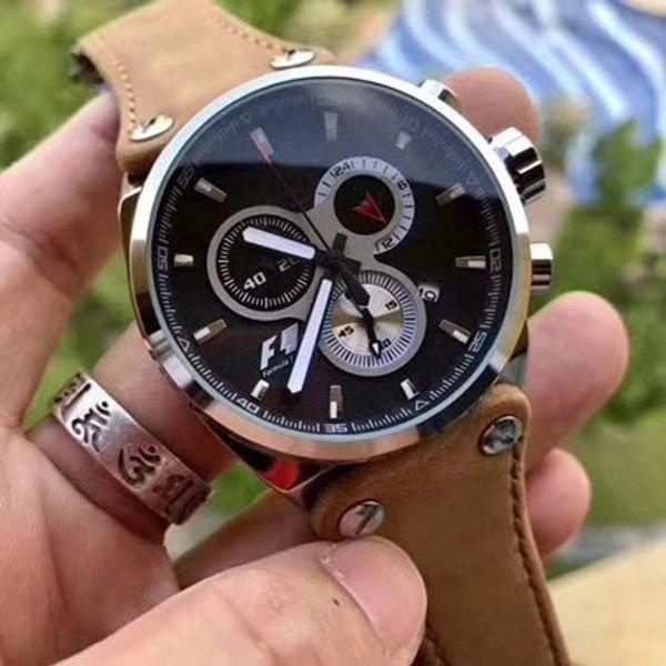 2018 new men watche brand luxury watch quartz brown leather watch cla ic male clock port watch military chronograph
