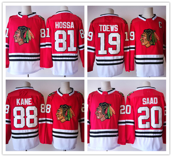 2018 NEW BRAND Chicago Black Hawks Ice Hockey Jerseys Men Stitched SAAD KANE Hossa Hull Toews Keith Seabrook SHARP CRAWFORD Jerseys