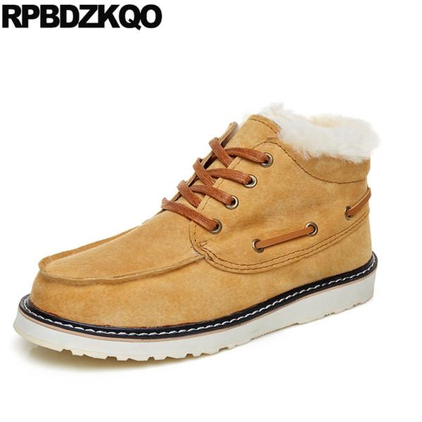 Stivaletti alla caviglia in vera pelle scamosciata marrone chiaro con tacco  alto da uomo in camoscio con scarpe in vera pelle di pecora 86e5d6e9844