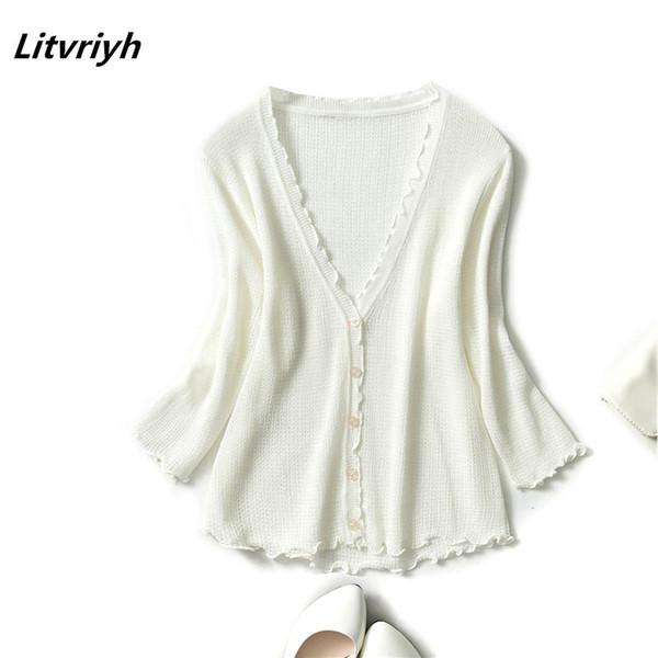 Compre Litvriyh Primavera Otoño Señoras Rebeca Mujeres Suéter Grande ...