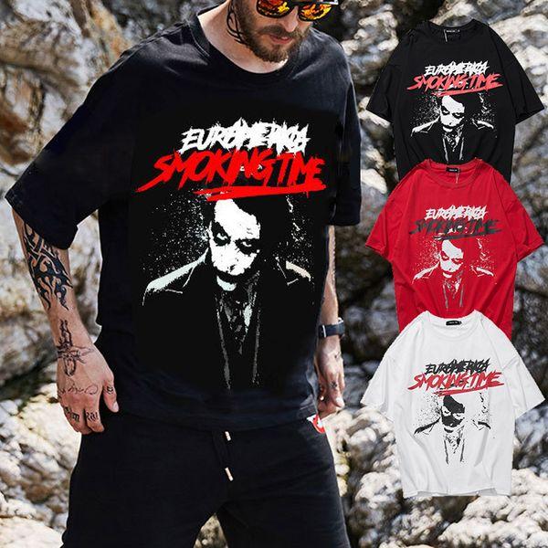 Sommer Designer T shirts Marke Clown Graffiti Kurzarm Hip-Hop Straße Lose Stil Mens Womens Tee Baumwolle Tops Casual