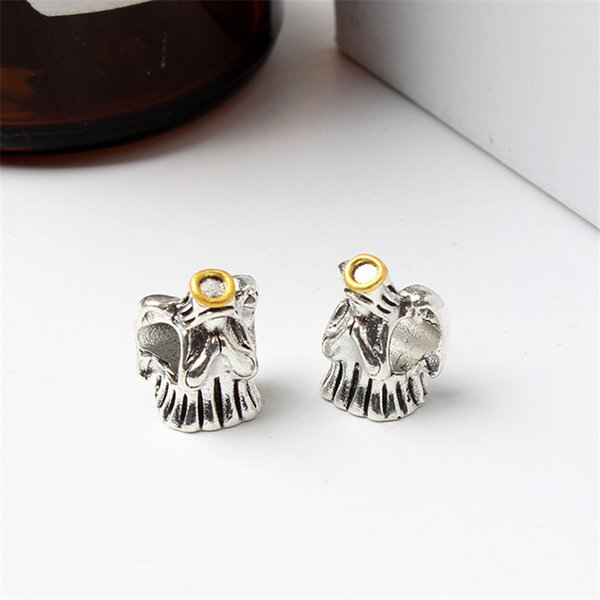 Angel With Gold Plated Alloy Charm For Pandora Bracelet Snake Chain Or Necklace Fashion Jewelry Loose Bead New Arrival