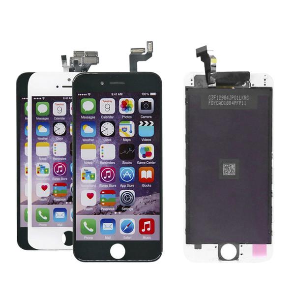 Grade A + LCD-Display Touch Digitizer Rahmenmontage Reparatur für iPhone 5 5s 6S 6S Plus 7 8 Plus kostenlos 5D gehärtetes Glas