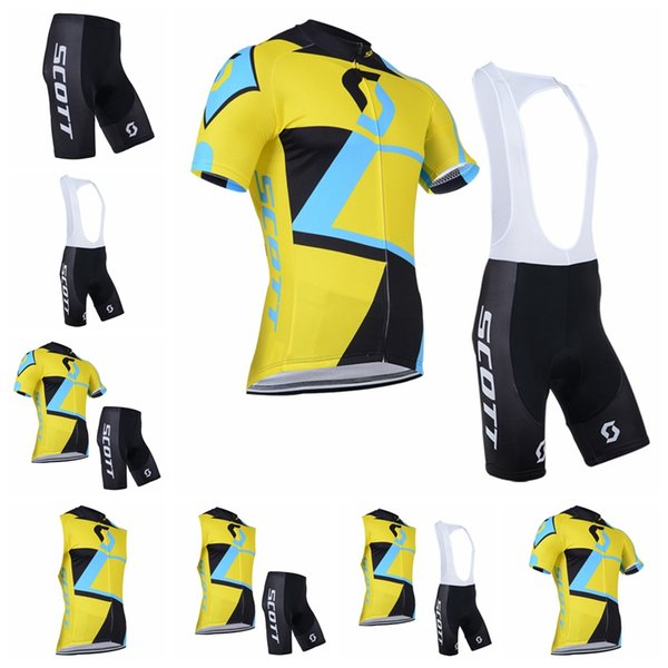 Tour de France Cycling Jersey bike short uniform quick dry MTB Ropa Ciclismo pro SCOTT cycling clothing mens bicycling Maillot Culotte 91908