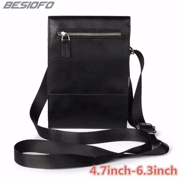 Zipper Holster Double Pockets Pouch With Belt Shoulder Bag Phone Case For Lenovo K3 K4 K5 K6 K7 K8 Plus S5 S8 S920 VIBE P1 P2