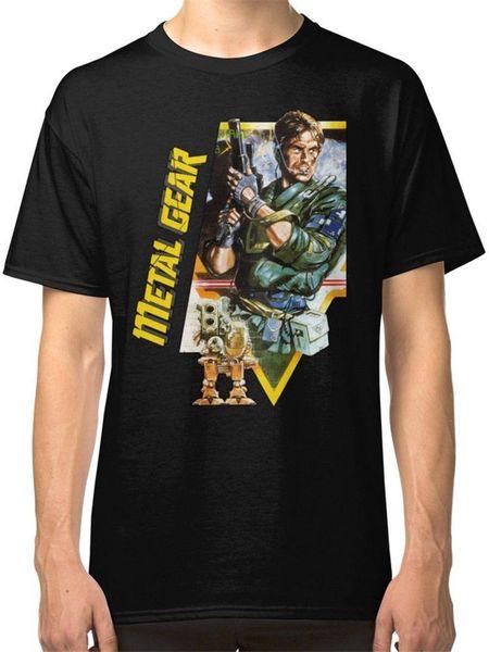 Movie Shirt Crew Neck Men Graphic Short Sleeve Metal Gear Solid T Shirts