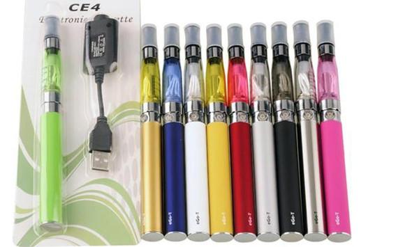 e cig eGo CE4 starter kit Single CE4 Blister Kit 650mah 900mah 1100mah EGO-T Batteria CE4 Clearomizer Atomizzatore vaporizzatore penna vape DHL