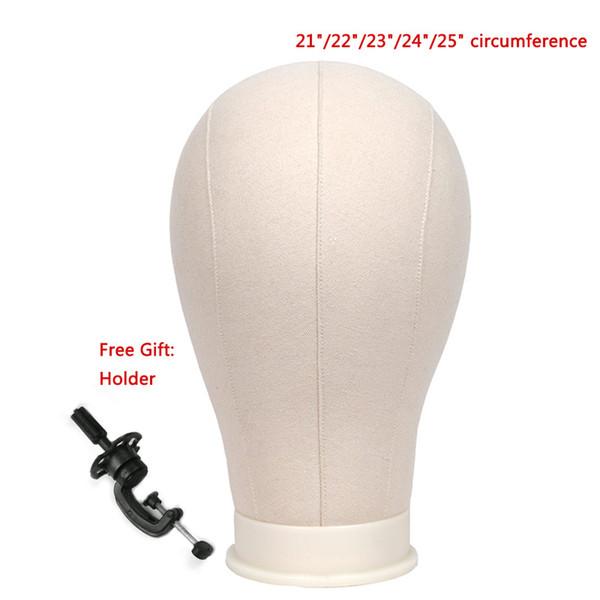 Leinwand Block Kopf mit Stand Perücke Stand Perücke machen Display Styling Training Mannequin Kopf Manikin Kopf frei erhalten Halter