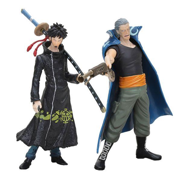 Figuras One Piece Figurine Trafalgar Law Benn Beckman Anime Action Figure Hero Zero Years Luffy 14cm PVC Doll Toy