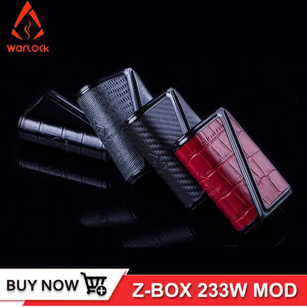 Orijinal 233 W Warlock Z-BOX Mekanik Mod Rofvape TC Mod Deri Tasarım Büyük Güç Elektronik Sigara vape Z kutusu