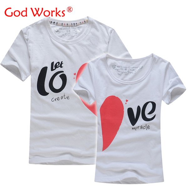 Lovers T Shirt For Couples And Lovers Clothes tshirt Summer Shirt Men & Women Heart Love T-shirts Shape Clothes