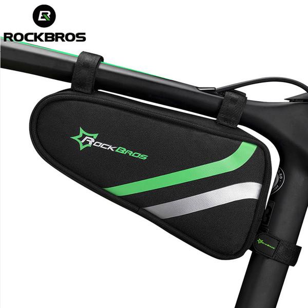 ROCKBROS Waterproof Bicycle Cycling Bags MTB Road Bike Frame Front Triangle Bike Tube Bags Bicycle Repair Tool Pannier Black