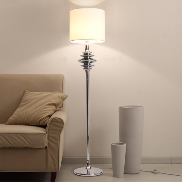 2019 Modern Floor Lights Standing Lamps For Living Room Loft Floor Lamp  Kids Long Stand Lamp Chrome Cloth Fabric E27 110 240V From Goddard, $218.86  | ...