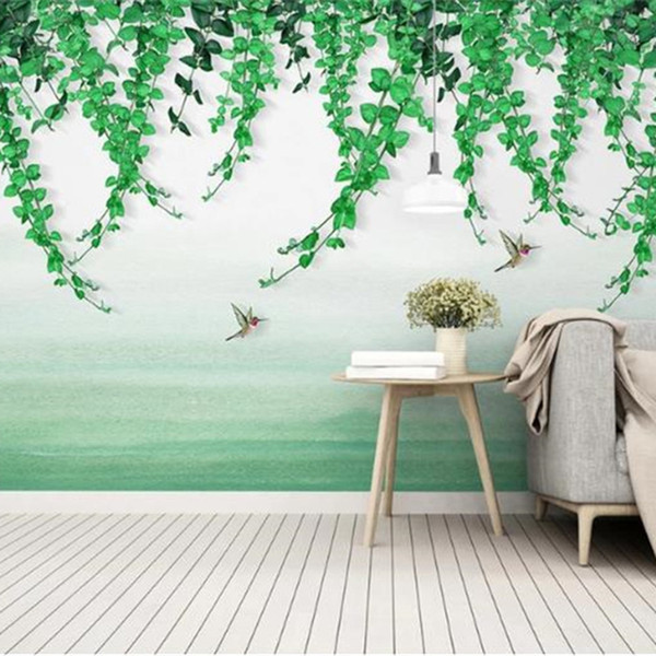 3D Nature Landscape Wallpapers Custom Photo Wallpapers Wall Murals Home Decor Walls Papers for Living Room Bedroom European Leaf